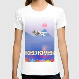Red River China Vietnam travel poster. T-shirt