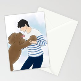 makkachin and yuuri dancing - yuri on ice Stationery Cards