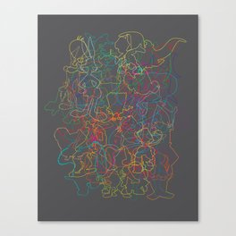 50 Animated Characters  Canvas Print