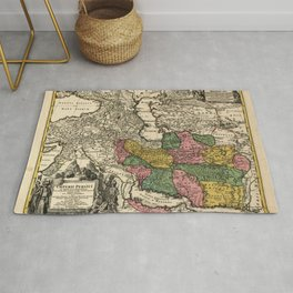 Map of Iran (1724) Rug