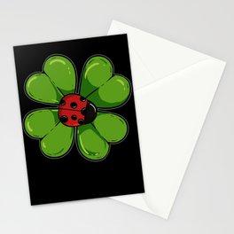 Ladybug Shamrock Clover Mindfull Ladybird Mindful Stationery Cards