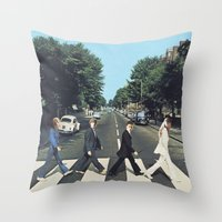 potter Throw Pillows featuring Potter Road by alboradas