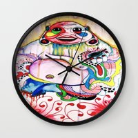 buddah Wall Clocks featuring Buddah by TomDaly