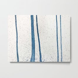 Parallel Universe [vertical]: a pretty, minimal, abstract piece in lines of vibrant blue and white Metal Print