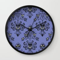 haunted mansion Wall Clocks featuring Phantom Manor - Haunted Mansion by Katikut