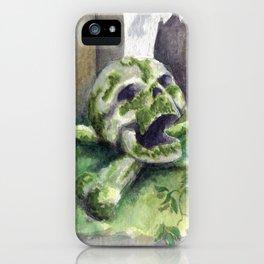 Mossy Skull iPhone Case