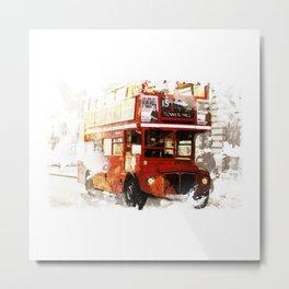 London Bus Metal Print
