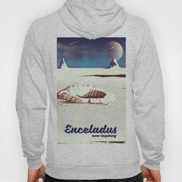enceladus moon travel poster Hoody