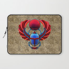 Colorful Egyptian Scarab Laptop Sleeve