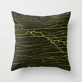 Stone yellow black Throw Pillow