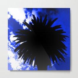 Palm Tree Silhouette - Groove Of Midnight Metal Print