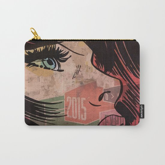 Comic girl affiche poster Carry-All Pouch