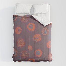 Hand Printed Circular Floral Comforters