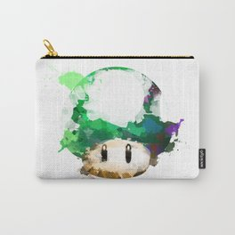 Watercolor 1UP Mushroom Carry-All Pouch