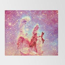 Galaxy: the pillars of creation nebula Throw Blanket