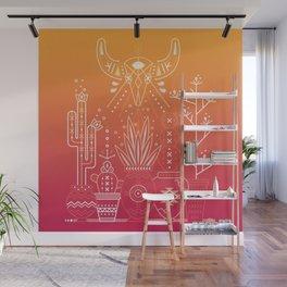 Santa Fe Garden – Orange Sunset Wall Mural