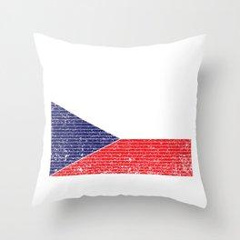 Czech Republic Country Flag Vintage Czech Gift Throw Pillow