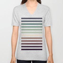 striped pattern - color stripes - autumn colors Unisex V-Neck