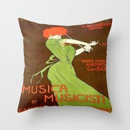 Vintage poster - Musica e Musicisti Throw Pillow