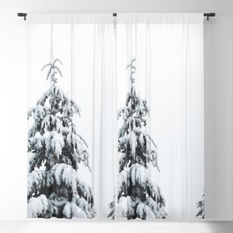 Winter Trees VII - Snow Capped Forest Adventure Nature Photography Blackout Curtain