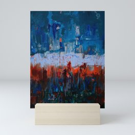 Blue and Orange Mini Art Print