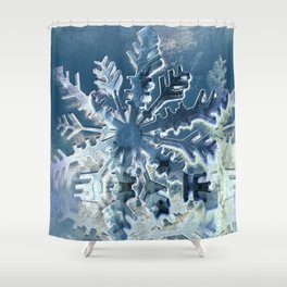 Winter Flakes Shower Curtain