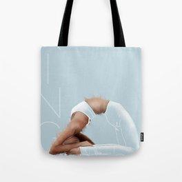 King pigeon Asana - iceblue Tote Bag