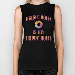 Magic Hour Is My Happy Hour Biker Tank