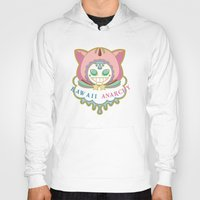 anarchy Hoodies featuring Kawaii Anarchy by RainyIsle: Rachael Herb-Neterer