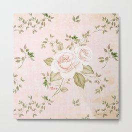 Vintage & Shabby -  floral roses flowers - Rose and Flower Metal Print