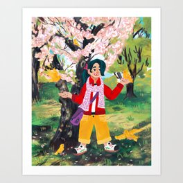 Canary Friend Art Print