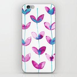 corazones enlazados magenta iPhone Skin