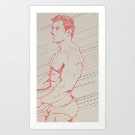Red Bulge Art Print