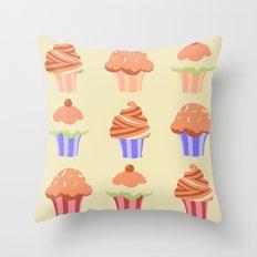 Yummy Cupcakes Throw Pillow