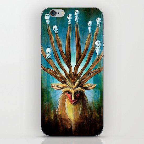 Princess Mononoke The Deer God Shishigami Tra Digital Painting. iPhone & iPod Skin