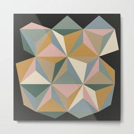 Pastel Triangles Metal Print