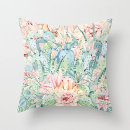 give me pastels Throw Pillow