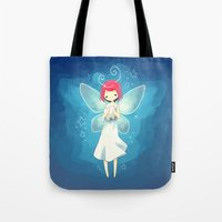 tooth Tote Bags featuring Tooth Fairy by Freeminds