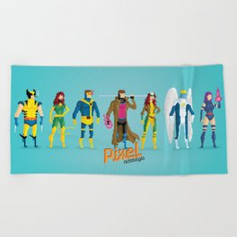 Pixel Mutants Beach Towel