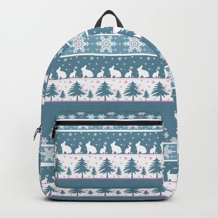 Retro .Christmas . Backpack