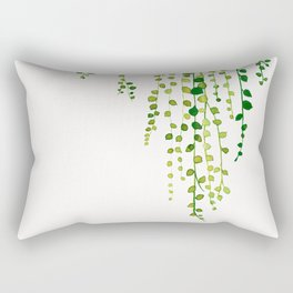 String of pearls #2 in green - ink painting Rectangular Pillow