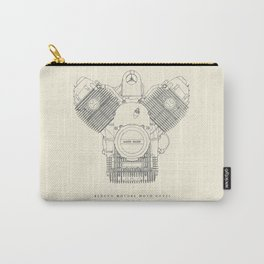 Moto Guzzi engine poster, man cave stuff, motorbike, motorcycle, garage, café racer, scrambler Carry-All Pouch