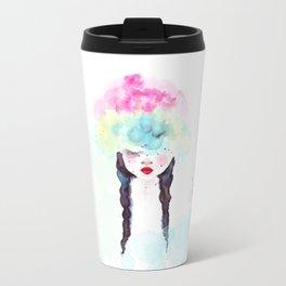 Creative mind Creative soul - watercolors girl Travel Mug