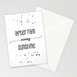 TEXT ART After rain comes sunshine Stationery Cards