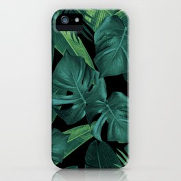 Tropical Summer Night Jungle Leaves Dream #1 #tropical #decor #art #society6 iPhone Case
