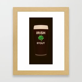 Irish Stout Framed Art Print