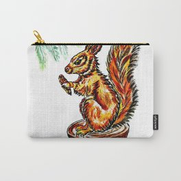 Squirrel watercolor Carry-All Pouch