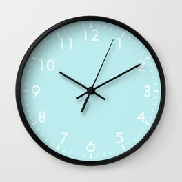 Pastel Turquoise Blue Wall Clock