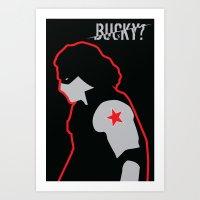 bucky Art Prints featuring Bucky? by ElectricShotgun