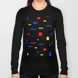 Map Lines Mond Long Sleeve T-shirt